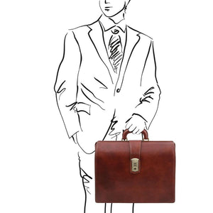 Sketch Of Man Posing With The Brown Leather Doctor Bag