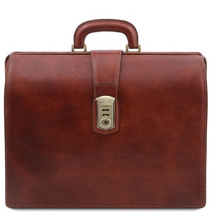 Front View Of The Brown Leather Doctor Bag