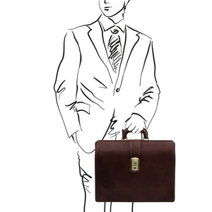 Sketch Of Man Posing With The Dark Brown Leather Doctor Bag
