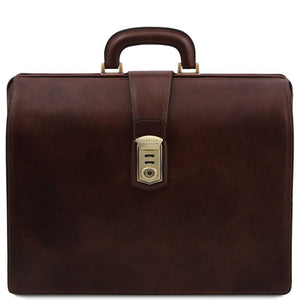 Front View Of The Dark Brown Leather Doctor Bag