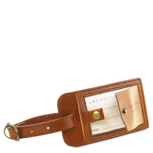 Luggage Tag View Of The Honey Classic Leather Traveler's Bag