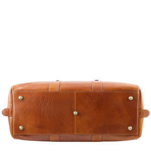 Underneath View Of The Honey Classic Leather Traveler's Bag