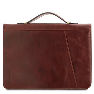 Features View Of The Brown Exclusive Leather Portfolio