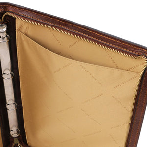 Internal View Of The Brown Exclusive Leather Portfolio
