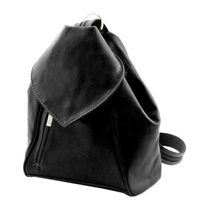 Angled View Of The Black Stylish Backpack