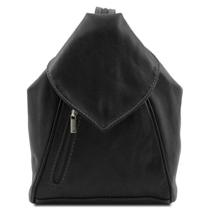 Front View Of The Black Stylish Backpack