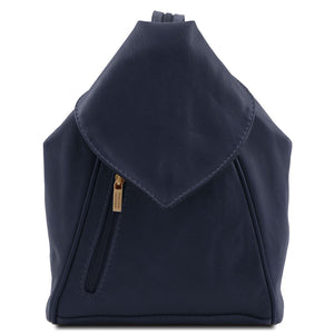 Front View Of The Dark Blue Stylish Backpack