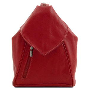 Front View Of The Red Stylish Backpack