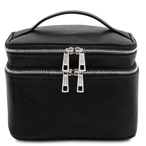 Front View Of The Black Travel Toiletry Bag