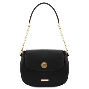 Front View Of The Black Womens Shoulder Bag
