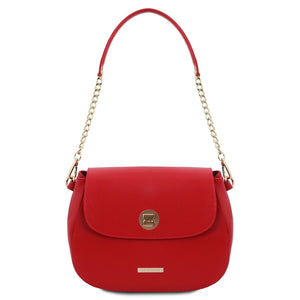 Front View Of The Lipstick Red Womens Shoulder Bag