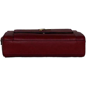 Underneath View Of The Red Leather Clutch Bag