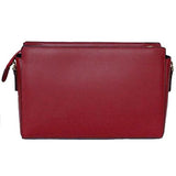 Rear View Of The Red Leather Clutch Bag