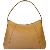 Rear View Of The Tan Leather Hobo Bag