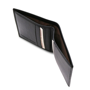 Currency Compartment View Of The Black Genuine Leather Wallet