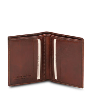 Open View Of The Brown Genuine Leather Wallet