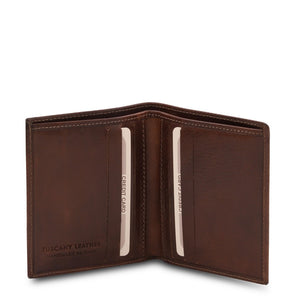 Open View Of The Dark Brown Genuine Leather Wallet