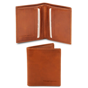 Front And Open View Of The Honey Genuine Leather Wallet