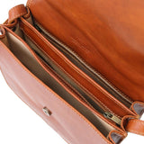 Internal Compartment View Of The Honey Saddle Handbag