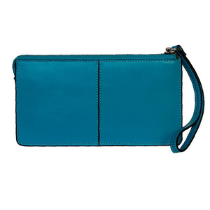 Front View Of The Aqua Jane Leather Purse