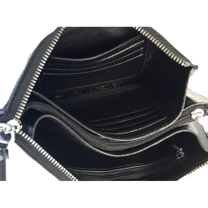 Internal View Of The Black Jane Leather Purse