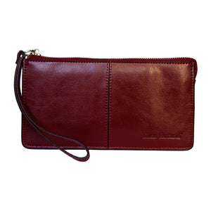 Front View Of The Claret Jane Leather Purse