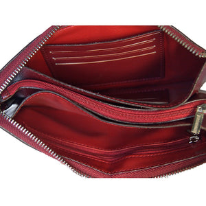 Internal View Of The Claret Jane Leather Purse