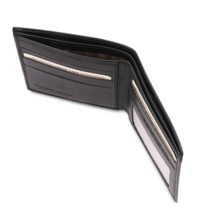 Currency Holder View Of The Black Leather Wallet For Men