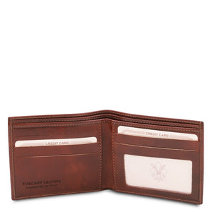 Open View Of The Brown Leather Wallet For Men