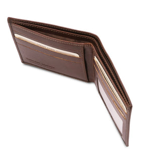 Currency Holder View Of The Dark Brown Leather Wallet For Men