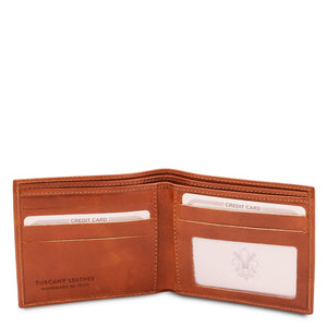 Open View Of The Honey Leather Wallet For Men