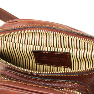 Internal View Of The Brown Leather Bum Bag