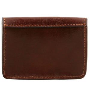 Rear View Of The Brown Leather Card Holder