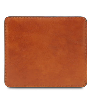 Front View Of The Honey Leather Mouse Pad