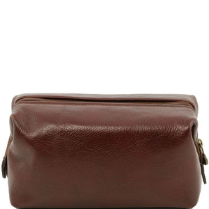 Toiletry Bag View Of The Brown Columbus Leather Travel Set