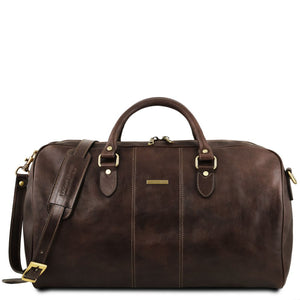 First Individual Bag View Of the Dark Brown Leather Travel Set