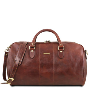 First Individual Bag View Of the Brown Leather Travel Set