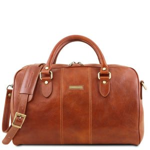 Second Individual Bag View Of the Honey Leather Travel Set