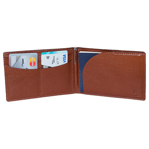 Open Wallet Capabilities View Of The Brown Lizandez Unisex Leather Passport Wallet