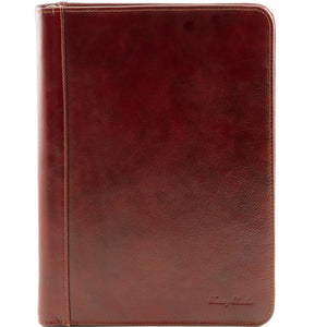 Front View Of The Brown Leather A4 Compendium