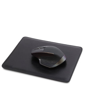 Mouse Pad With Mouse View, Part Of The Black Luxury Leather Desk Set