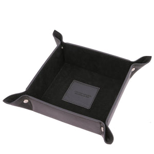 Top View Of The Large Tidy Tray Part Of, The Black Luxury Leather Desk Set