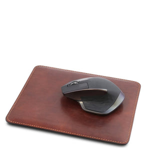 Mouse Pad With Mouse View, Part Of The Brown Luxury Leather Desk Set