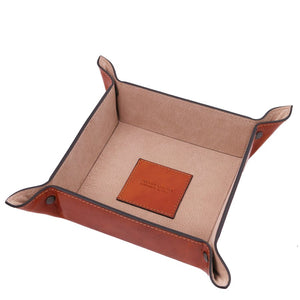 Top View Of The Large Tidy Tray Part Of, The Honey Luxury Leather Desk Set