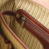 Divider View Of The Brown Genuine Leather Briefcase