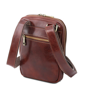 Rear View Of The Brown Crossbody Bag Mens