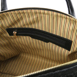 Internal Zip Pocket View Of The Black Fashionable Duffle Bag