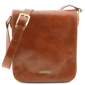 Front View Of The Honey Mens Leather Shoulder Bag