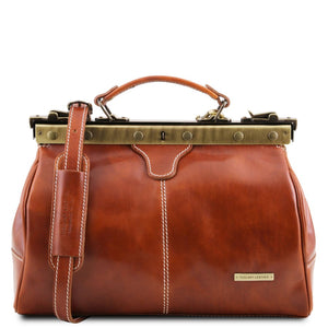 Front View Of The Honey Michelangelo Leather Doctors Bag