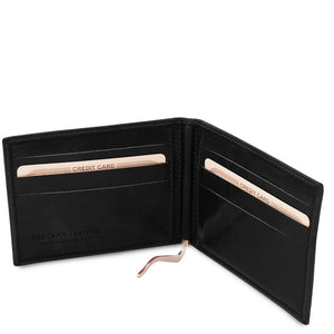 Money Clip View Of The Black Money Clip Card Holder